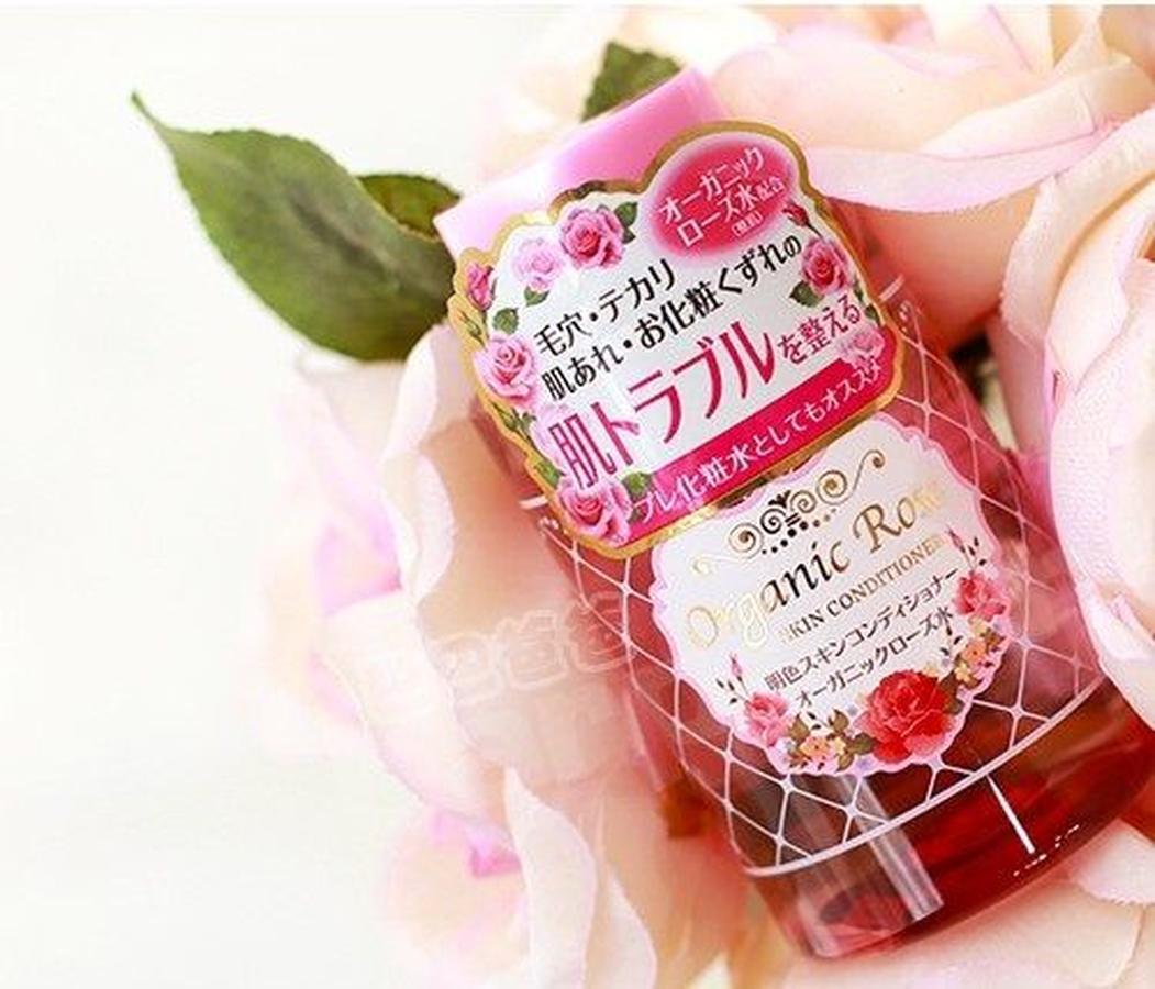 JP Nước hoa hồng không cồn Meishoku Organic Rose Skin Conditioner 200ml